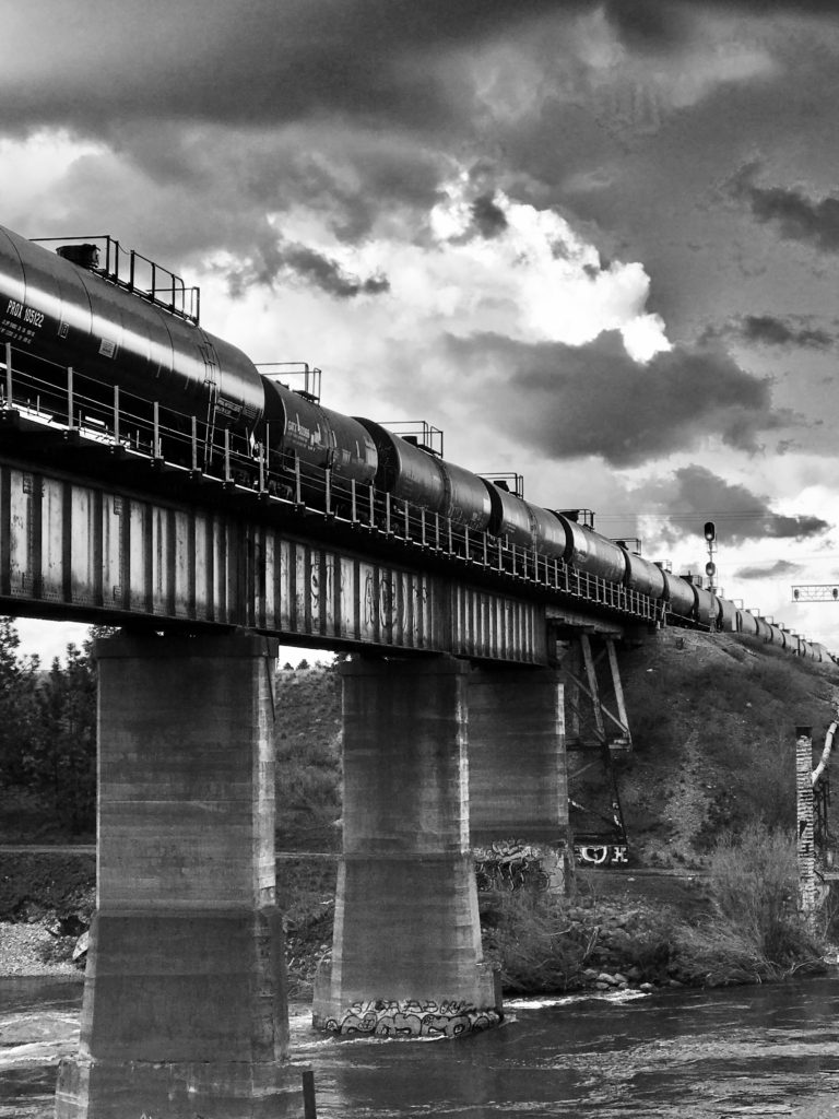 Train Over the River