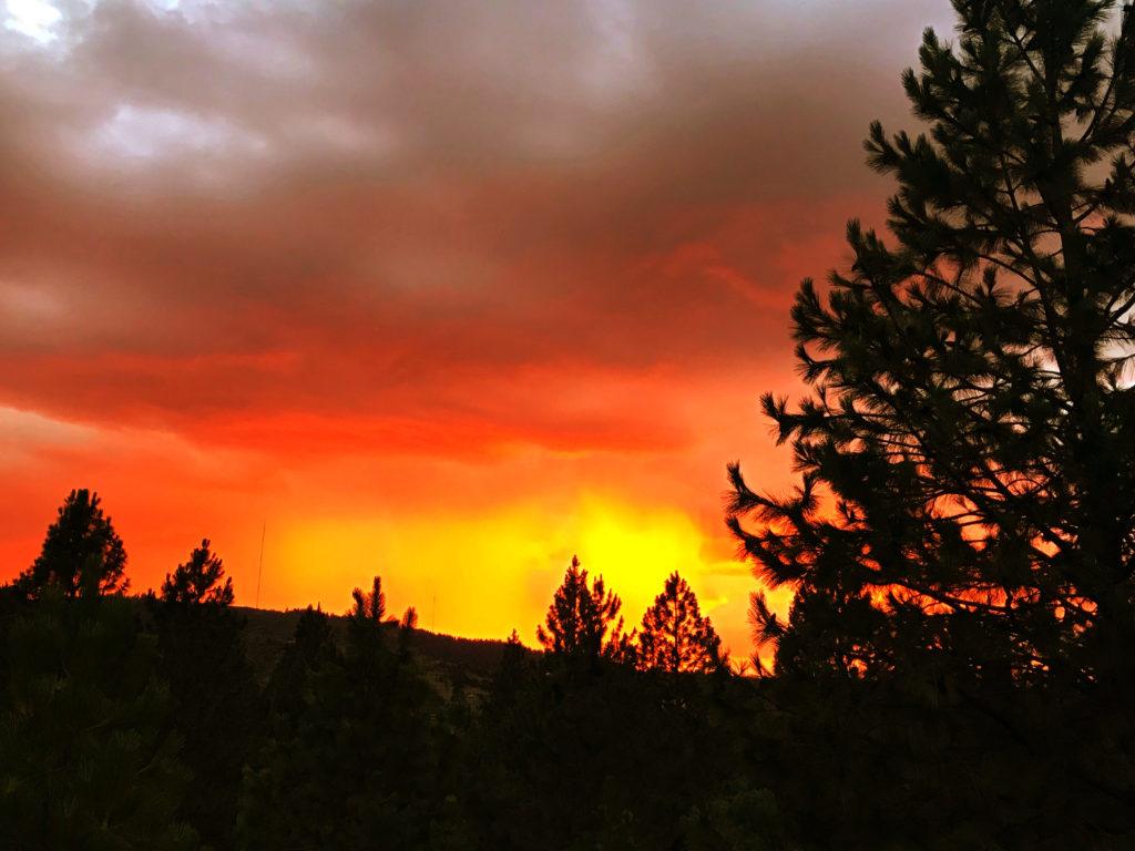 Sunset on Fire